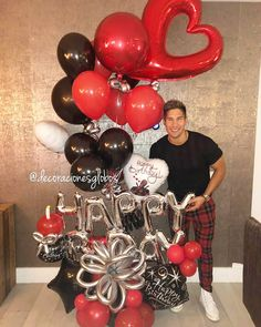 Birthday Decorations For Men Party Decor 39 Ideas Birthday Crafts, Man Birthday, Birthday Parties, Surprise Birthday, Birthday Recipes, Birthday Ideas, Balloon Bouquet, Balloon Garland, Birthday Pictures