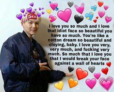 Bts Memes, Bts Meme Faces, Funny Kpop Memes, Funny Faces, Funny Quotes, Bts Quotes, Love You Meme, Cute Love Memes, I Love Bts