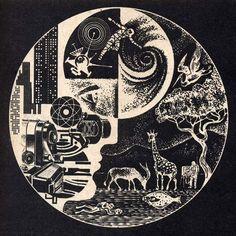 Nikolai Lutohin. Illustrations for Galaksija Magazine. 1970s.