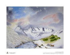 Limited edition giclee print of my watercolour painting of Glen Shiel In Winter, Scottish Highlands, Size is x Great gift Image Size is x Overall Size is Supplied rolled in a tube to UK, despatch is by royal mail class Sheep Paintings, Animal Paintings, Gifts For Dad, Great Gifts, Lovely Shop, Scottish Highlands, Limited Edition Prints, Watercolour Painting, Landscape Paintings