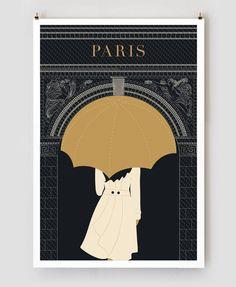 Reisposters van Parijs met een visuele twist