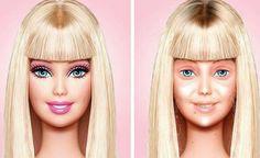 Así sería la Barbie sin maquillaje