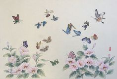 Fork Art, Winter Landscape, Drawing Reference, Art Drawings, Butterfly, Embroidery, Floral, Bamboo, Painting