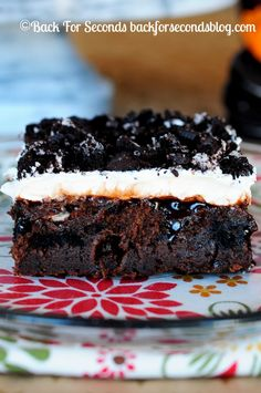 Marshmallow Oreo Fudge Cake - Rich, fudgy, gooey, and perfect for holidays!