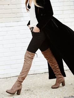 Over the knee boot.
