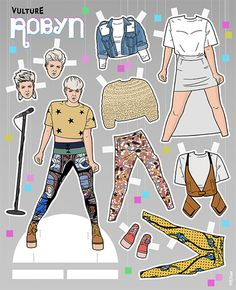 Made Us Look: Your Favorite TV Characters as Paper Dolls | Brit + Co
