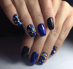 nail art, design style.manicure, камифубуки, синий маникюр битое стекло,