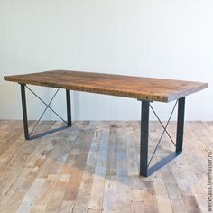Modern Dining Table Kitchen Table Reclaimed wood by MadeFromWoodd ...