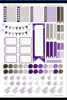 September Themed Purple & Grey Sampler Vertical Layout - Erin Condren Life Planner Stickers Printable PDF by OccasionalObsessions on Etsy