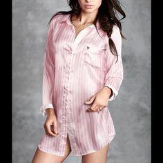 victoria secret afterhours satin sleep shirt S victoria secret afterhours satin sleepshirt Victoria's Secret Intimates & Sleepwear Pajamas