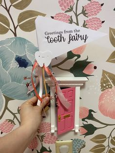 Greetings from the tooth fairy Baby Bedroom, Girls Bedroom, Playroom Decor, Nursery Decor, Toddler Playroom, Girl Rooms, House Beds, Tooth Fairy, Toddler Fashion