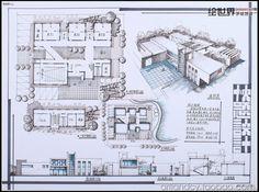 Concept Models Architecture, Architecture Presentation Board, Architecture Panel, Landscape Architecture Design, Architecture Visualization, Futuristic Architecture, School Architecture, School Building Design, Architectural Section