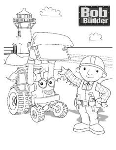 Image of Bob The Builder Coloring Pages