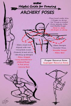 Another Guide for Drawing Archery Poses by JessKristen on DeviantArt