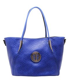 This Blue Embossed Medallion Tote is perfect! #zulilyfinds