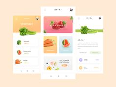 Fruits store application designed by farhadina. Connect with them on Dribbble; Ui Design Mobile, App Ui Design, Page Design, Layout Design, Flat Design, Design Design, Application Ui Design, Mobile Ui Patterns, Web Mobile