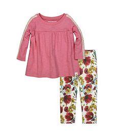 Kids Crochet Sleeve Tee & Legging Set - Burts Bees Baby