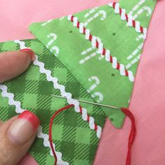 Detail from Block Three of the Cozy Christmas Sew Along with Lori Holt of A Bee…