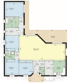Plan Rez-de-chaussée - maison - Bungalow de luxe