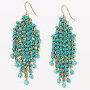 Turquoise and Gold Scale Earrings | World Market