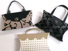 Pillow box handbags - michelle le breton