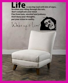 BOB MARLEY wall sticker bedroom quote art large vinyl stickers ...