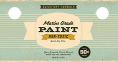 These bold paint can labels embody the classic feel-good design of the 1950s.