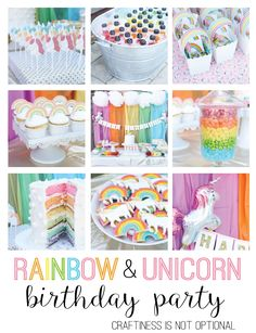 1000+ ideas about Rainbow Unicorn Party on Pinterest ...