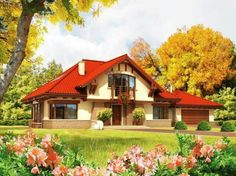 Holiday home for my family house in the mountains, home to the largest house in the forest in nature, orchard, vegetable garden and flowers, invite friends to dinner. Casas Country, Architectural House Plans, Model House Plan, Traditional House Plans, Forest House, Large Homes, Home Fashion, House Painting, My House