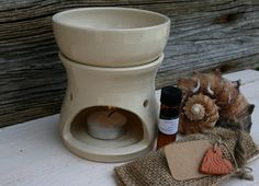 aromatherapy oil burner gift set by earthformsbymarie on Etsy, $42.00 sold