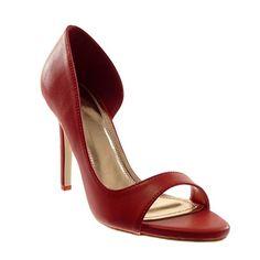 ad5e15b35841c6 Angkorly Chaussure Mode Escarpin Sandale Stiletto Slip-On Ouverte Femme  Moderne Talon Haut Aiguille 10 cm - Rouge - 301-58 T 39