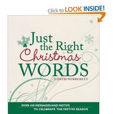 Just The Right Christmas Words: Amazon.co.uk: Judith Wibberley: Books
