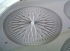 A fractal heat exchanger designed by Deb Pence at Oregon State University, and etched in silicon. Photo courtesy of Tanner Labs.