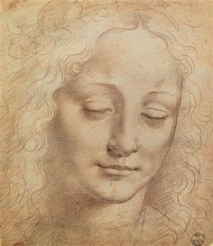 Female Head by Leonardo da Vinci - Born: 15 April 1452; Vinci, Republic of Florence, Italy - Died: 02 May 1519; Amboise, France. areas of interest included invention, painting, sculpting, architecture, science, music, mathematics, engineering, literature, anatomy, geology, astronomy, botany, writing, history and cartography.