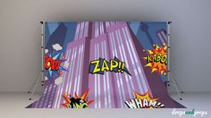 Superhero Skyline with Comic Words  Photography by DropsProps, $25.00