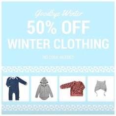Winter clothing has been marked down to 50% off.  No code needed!