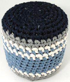 crochet stool jeans gery stripe by kitsdiezijn on Etsy, $49.00