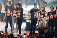 This is Piolo Pascual, #KathNiel (Kathryn Bernardo and Daniel Padilla), #ElNella (Elmo Magalona and Janella Salvador), and #LizQuen (Liza Soberano and Enrique Gil) having fun together once again after the closing production number of ASAP Live in New York at the Barclays Center last September 4, 2016. They are really having a good time! :-) #ASAPLiveinNewYork