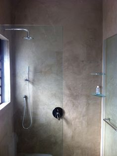 Cemcrete's SatinCrete is a beautifully smooth, suede-like wall finish and is ideal for use inside showers.