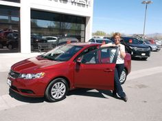 Cyndi's new 2010 KIA FORTE! Congratulations and best wishes from Grand West Kia and SABRA WHITE.