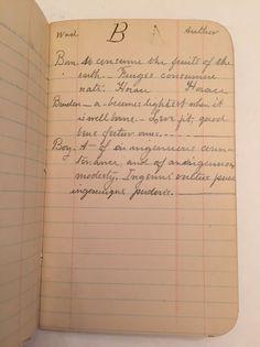 Vintage 1910's Handwritten Notebook Greek & Latin Marblehead MA Origins Diary MA    eBay