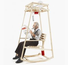 This rocking chair knits while you rock!