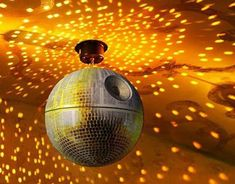 Death Star disco ball. Yes.