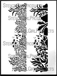 Resultado de imagen para stencils algas y corales
