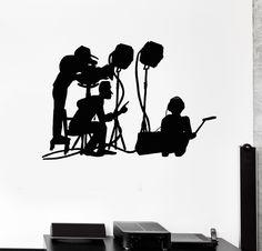 Vinyl Decal Entertainment Decoration Film Crew Movie Set Wall Vinyl Sticker Movie Theater Decor (ig3056)
