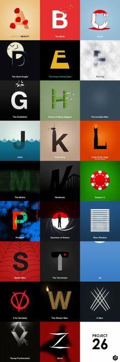 Project 26 by Doaly  #Alphabet  #Cinématographique  #Font