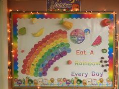 When your body grows properly, enjoying good nutrition, you look and feel terrific, always have plenty of energy, and reduce the amount of time that you are sick and sensation poorly. Cafeteria Bulletin Boards, Rainbow Bulletin Boards, Nurse Bulletin Board, Food Bulletin Boards, Nutrition Education, Gym Nutrition, Child Nutrition, Nutrition Program, Nutrition Guide