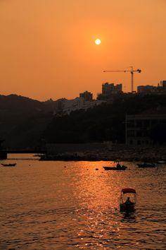 Sunset over Stanley, Hong Kong