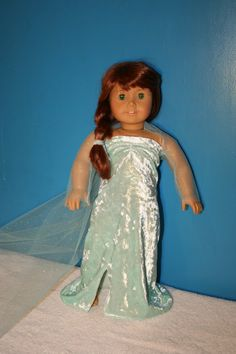 Frozen Elsa inspired American Girl Doll dress Doll by Faysgirls, $19.99
