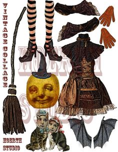 Halloween Pumpkin paper Doll Printable Paper creation DIY Halloween decor cut outs are a digital download Complete with some of my favorite digitals in mini size just cut paste and assemble super decoration for center piece, or holiday party Halloween is always so fun!!! fits on an 8x10 cardstock sheet